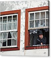 Lady In The Window Acrylic Print