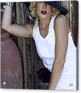 Lady In White Palm Springs Acrylic Print