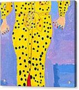 Lady In Yellow Acrylic Print