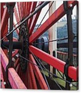 On The Isle Of Man, Lady Isabella Wheel Close Up Acrylic Print