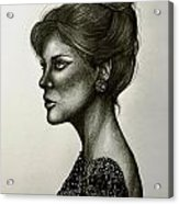 Lady Lace Acrylic Print