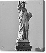 Lady Liberty Black And White Acrylic Print
