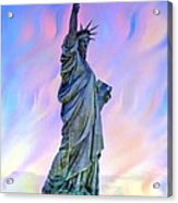 Lady Liberty Blues Acrylic Print