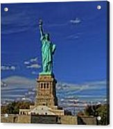 Lady Liberty In New York City Acrylic Print