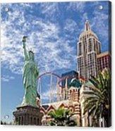 Lady Liberty In Vegas Acrylic Print