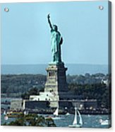 Lady Liberty Acrylic Print by Kristin Elmquist