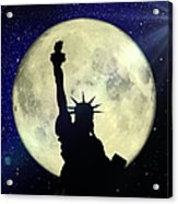Lady Liberty Nyc - Featured In Comfortable Art Group Acrylic Print