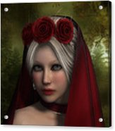 Lady Of Roses Acrylic Print