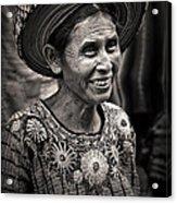 Lady Of Santiago Atitlan Acrylic Print