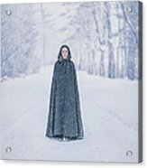 Lady Of The Winter Forest Acrylic Print