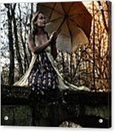 Lady Rain Acrylic Print