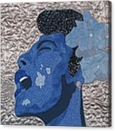 Lady Sings Acrylic Print