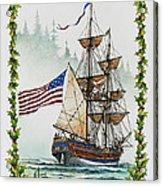 Lady Washington And Holly Acrylic Print
