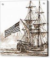 Lady Washington At Friendly Cove Sepia Acrylic Print