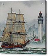 Lady Washington At Grays Harbor Acrylic Print by James Williamson