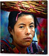 Lady With A Basket Acrylic Print