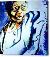 Lady With A Cane Acrylic Print