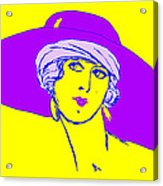Lady With Hat 1c Acrylic Print