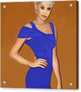 Lady With The Blue Dress Acrylic Print