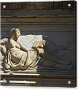 Lady With The Book Acrylic Print