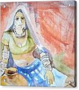Lady With The Earthen Pot Acrylic Print