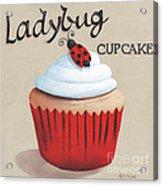 Ladybug Cupcake Acrylic Print