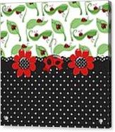 Ladybug Flower Power Acrylic Print