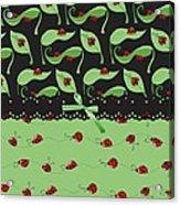 Ladybug Splash Acrylic Print