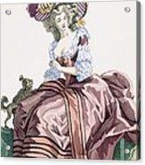 Ladys Elegant Caramel Coloured Satin Acrylic Print