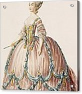 Ladys Gown For The Royal Court Acrylic Print
