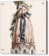 Ladys Summer Walking Gown, Engraved Acrylic Print
