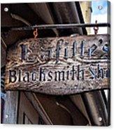Lafittes Blacksmith Shop Sign Acrylic Print