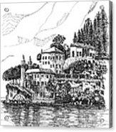 Lago Di Como-lenno - Vila Del Bilbianello Acrylic Print