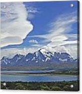 Lago Sarmiento And The Paine Massif Acrylic Print