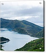 Lagoa Do Fogo Panoramic View Acrylic Print