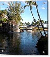 Lagoon Of Hilton Waikoloa Acrylic Print