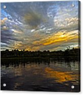 Lagoon Sunset In The Jungle Acrylic Print