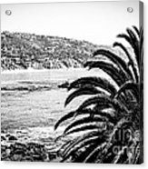 Laguna Beach California In Black And White Acrylic Print