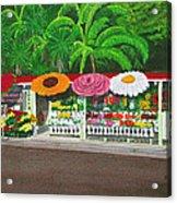 Laguna Beach Flower Stand Acrylic Print