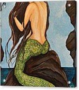 Laguna Beach Mermaid Marina Acrylic Print