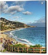 Laguna Beach Shoreline Acrylic Print by Eddie Yerkish