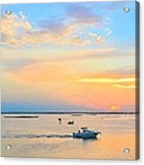 Laguna Madre Fishing At Sunset Acrylic Print