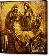 Laid_in_the_tomb Via Dolorosa 14 Acrylic Print by Lianne Schneider
