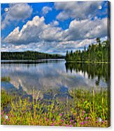 Lake Abanakee In Indian Lake New York Acrylic Print by David Patterson