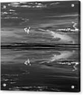 Lake Abert 4 Black And White Acrylic Print