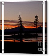 Lake Almanor Sunset Triptych Acrylic Print