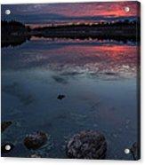 Lake Alvin Dusk Acrylic Print