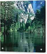 Lake And Trees, California Acrylic Print