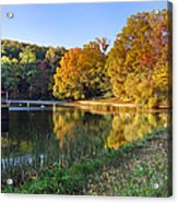 Lake At Chilhowee Acrylic Print by Debra and Dave Vanderlaan