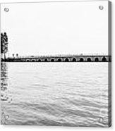 Lake Bridge Mono Acrylic Print